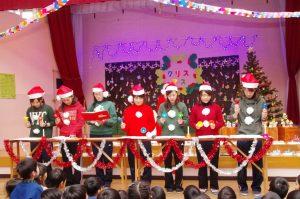 みづほ幼稚園クリスマス会にサンタが来園