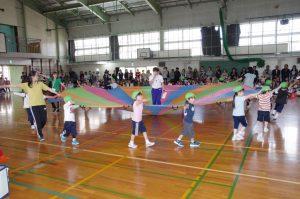 雨天延期で日曜日に開催した運動会