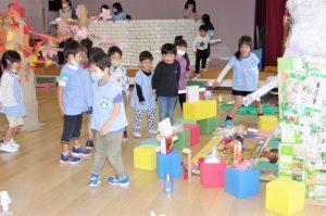 園児による作品展開催